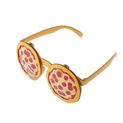 BESTOYARD Neuheit Pizza Brille für Geburtstagsparty Kostüm