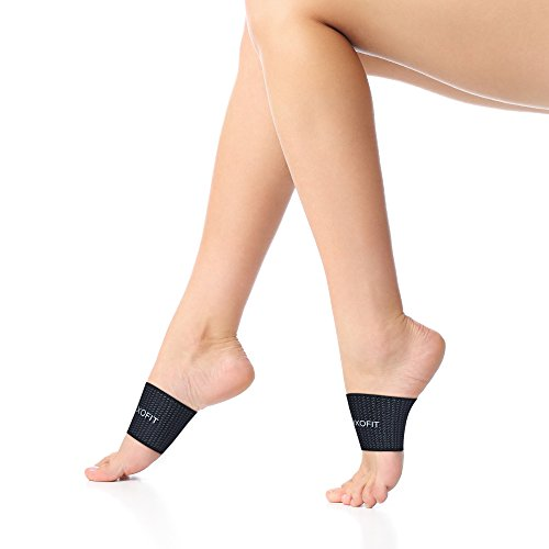 Kids Arch Compression Sleeve - Plantar Fasciitis Support - Flat Feet Elastic Copper Bandage Foot Brace for High Fallen Arches Heel Pain Running for Youth Boys Girls