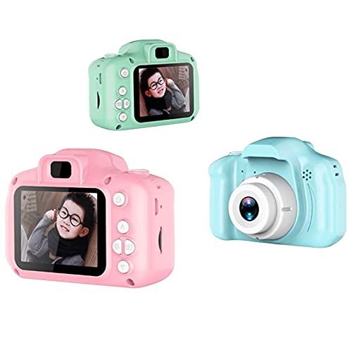 Kinderkamera - Digitalkamera Kinder mit 2 Zoll Großbildschirm Mini Kamera HD 1080P Eingebaute 1GB SD Karte USB Wiederaufladbare Selfie Kamera für 3 - 10 Jahre Alter Mädchen Geburtstag Kinder Spielzeug