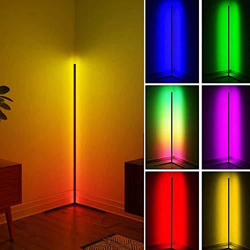 WFWPY Nordic Decoration Home Stehlampen, einstellbare Helligkeit für Restaurant Schlafzimmer Wohnzimmer Dekoration, 23W LED dimmbare Eck Stehlampe, RGB Stehleuchte, Nordic LED Eck Stehleuchte