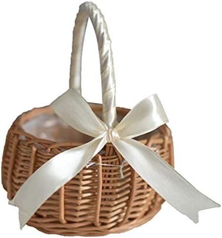 High material YRHH Woven Flower Basket Rattan Girl Hand New item Storage
