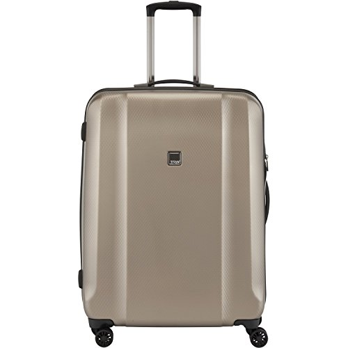 Titan Xenon Deluxe Pc 21' Carry On Spinner Luggage, Champagne, One Size