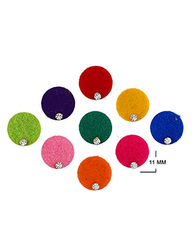 Anuradha Art Jewellery Richie Rich Multi Colour Round Shape Bindis For Wedding Bindi Packets For Ladies Bindi Diamond