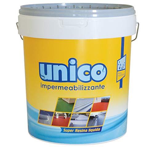 ICOBIT Unico - Super resina liquida impermeabilizzante, grigio, 5 kg