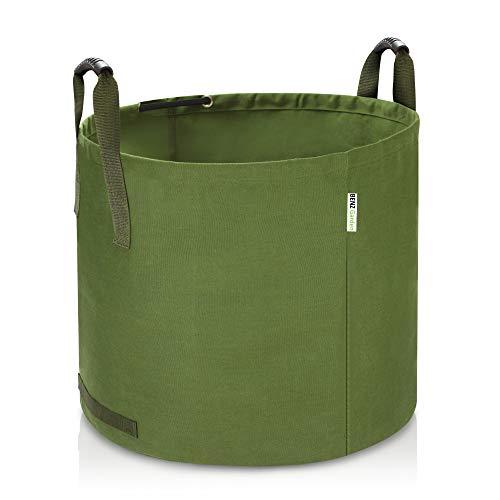 Benz Garden® 125L Gartenabfallsack Laubsack aus robustem Leinengewebe | schwerlast Gartensack | zusammenfaltbar | vielseitig einsetzbar | Gartentasche Rasensack (1x 125 Liter)