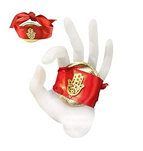 30 Rubans Rouges Henné Bracelet Mariage Oriental Main de Fat