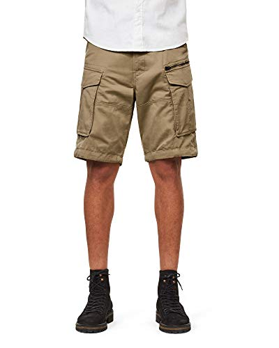 G-STAR RAW Herren Shorts Rovic Zip Relaxed 1/2-Length, (Dune 239), 36W