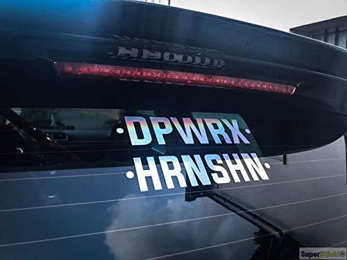 SUPERSTICKI Dpwrx hrnshn Oil Slick Folie Hologramm Auto Tuning Aufkleber ca 20cm Autoaufkleber