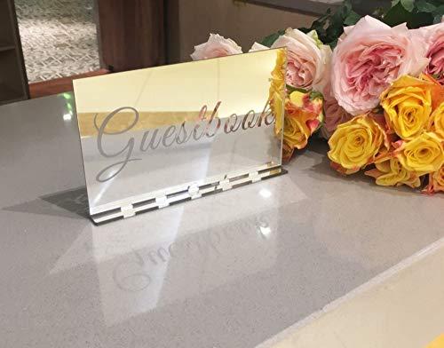 YongPan Acryl Spiegel Bruiloft Gastenboek Tafelteken, Acryl Vrijstaande Decoratie, Bruiloft Acryl Gratis Staande Laser Cut Receptie