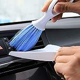 a50 Escobillas de Baño Silicona WC Car Clean Brush Mini Escoba Recogedor Set para Aire Acondicionado Ventilación Ranura Cepillo Polvo Ciego Teclado Lavadora De Limpieza