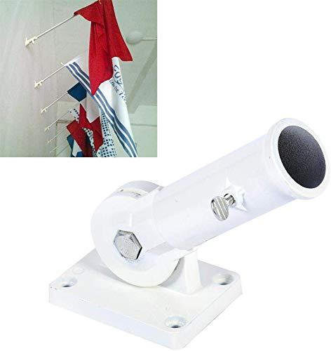 Einstellbare Fahnenstange Halterung Multi-Position Wandhalterung Fahnenstange Halter Weiß Metall Fahnenstange Windsack Basis