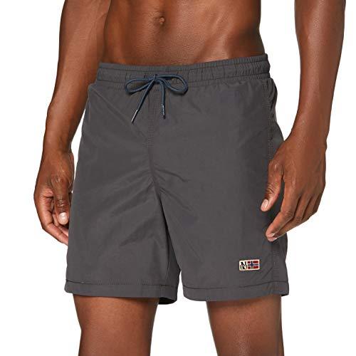 Napapijri Herren Villa 3 Shorts, Grau (Volcano H741), Large (Herstellergröße:L)