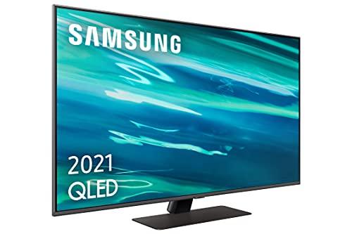 """Samsung QLED 4K 2021 50Q80A - Smart TV de 50"""" con Resolución 4K UHD, Procesador QLED 4K con Inteligencia Artificial, Quantum HDR10+, Direct Full Array, OTS Lite y Alexa Integrada"""
