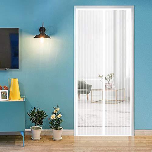 ERPENG Anti-Mücken-Vorhang 200x250cm Magnetverschluss faltbar Fliegenschutzvorhang Vorhang einfach zu montieren Ohne Bohren für Balkontür Terrassentür Kellertür, Weiß