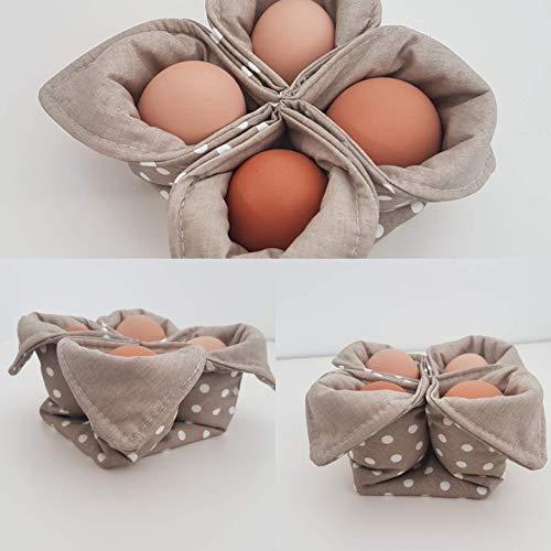 Eierwärmer, Eierkorb, Osterkorb -taupe-
