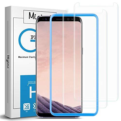 Migimi Protector Pantalla Samsung Galaxy S8, [2-Pack] Vidrio Templado 9H Dureza Anti-Huellas Dactilares, Alta Sensibilidad, Cristal Screen Protector para Galaxy S8 [Garantía de por Vida] (Transparent)
