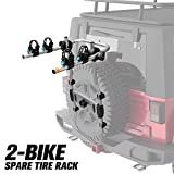 FIERYRED 2-Bike Spare Tire Rack, 75 lb. Capacity Spare...