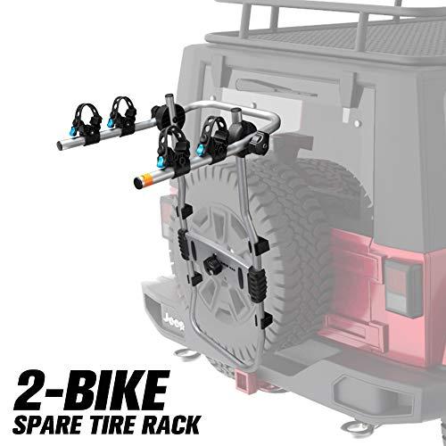 FieryRed 2-Bike Spare Tire Rack