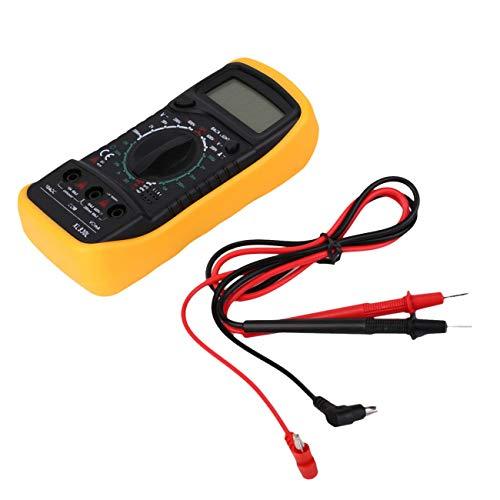 JIUY Auto Polaridad Indicador Digital multímetro XL830L voltímetro del amperímetro ohmiómetro Amarillo Tester Prueba de continuidad con zumbador de Sonido (Amarillo)