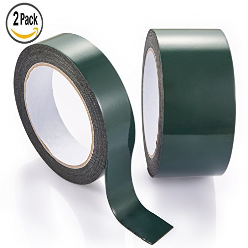 Black Double Side Foam Tape, Mounting Tape Foresight Extra Thick 1.5mm 2...