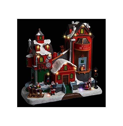 Féerie Lights et Christmas Déco Noël Usine Cadeaux Secteur Lumineux animé Musical