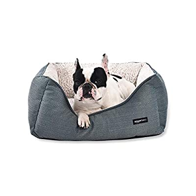 AmazonBasics Cuddler Pet Bed For Cats or Dogs - Soft and Comforting - Medium, Green