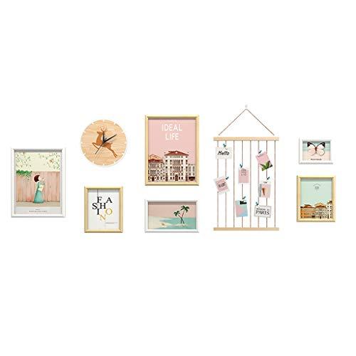 Cornice per foto   decorazione da parete – cornice in legno per selfie, collage e montaggio San Valentino laurea (colore A)