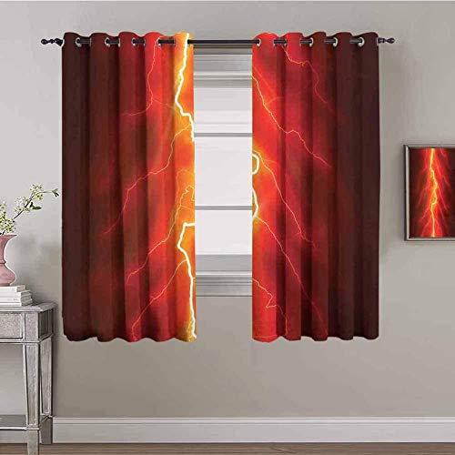 WYH-YW 3D-mörkläggningsgardiner för sovrum Röd elektrisk snygg modern 150x166cm Anti-Mildew Noise Super Soft för familjen Sovrum Vardagsrum Barnrum Hem Dekorativa 2 paneler