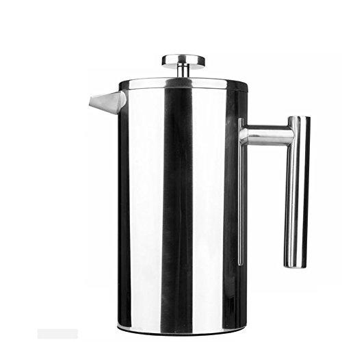 CDSS 350 ml/800 ml de acero inoxidable café francés Cafetera permanente filtro de cesta espresso fabricante de té doble pared percolador herramienta cafetera, 8L