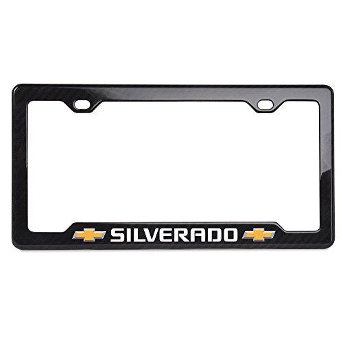 West Coast Corvette / Camaro Chevy Silverado Bowtie Notched Carbon Fiber License Plate Frame