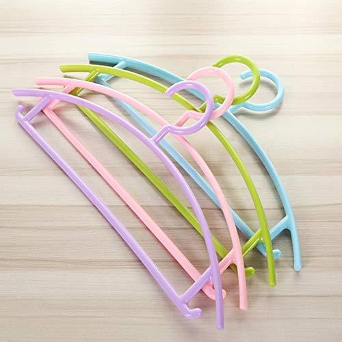 zhaoyangeng 5 delen/los kledingkast haken antislip multifunctionele kunststof kledinghanger broeken rek volwassenen pak kledingwinkel kledinghanger @ groen