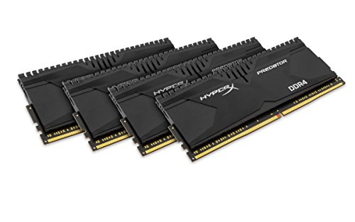 Kingston HyperX Predator HX426C13PB2K4/16 Arbeitsspeicher 16GB (CL13, 288-polig) DDR4-DIMM Kit (Skylake Compatible) schwarz