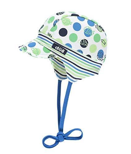 Döll Baby-Jungen Sonnenhut Bindemütze mit Schirm Jersey, Blau (Mediterranian Blue|Blue 3028), 43