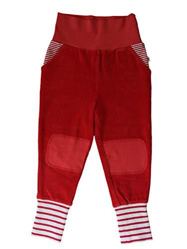 Leela Cotton - Pantalon - Bébé (Fille) 0 à 24 Mois - Rouge - 50 cm/56 cm