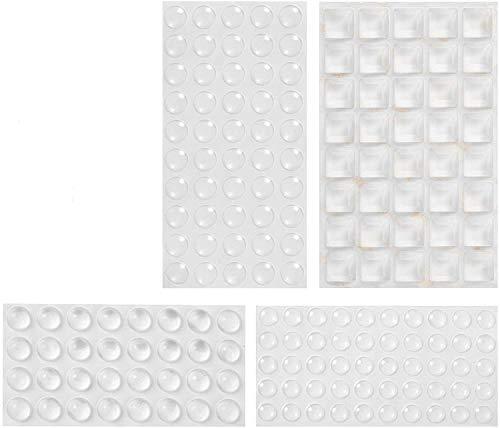 Lagrimas Silicona, 172 Piezas Pies de Goma Transparentes, Gotas Silicona Adhesivas, Almohadilla Autoadhesiva, Amortiguación de Ruido, protector antigolpes, búfer muebles(4 tamaños)