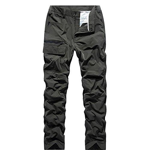 GITVIENAR Pantalon d'alpinisme Hommes pour Été Mince Séchage Rapide Respirant Pantalon de Sport Slim Élastique pour Camping Activités Extérieurs