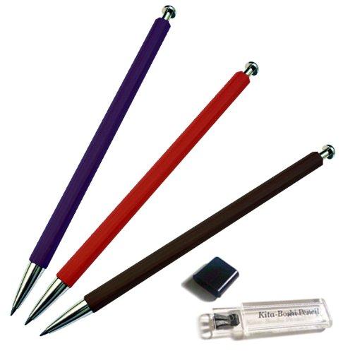 Kitaboshi Lead Holder 2mm, Black Body and Sharpener Set (OTP-680BST) Photo #2