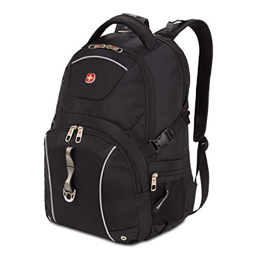 SWISSGEAR 3258 Laptop Backpack | Fits Most 17 Inch Laptops | Secure Computer Sleeve | Travel, Work, School | Men's and Women's - Black