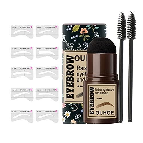 YIPUTONG Tampon à Sourcils Kit de Tampon à Sourcils de Maquillage imperméable réutilisable Tampon à Sourcils adapté aux Femmes façonnage des Sourcils Maquillage Ensemble cosmétique