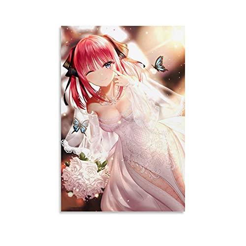 Póster de anime Girl Nakano Nino 5 Toubun No Hanayome vestido de...