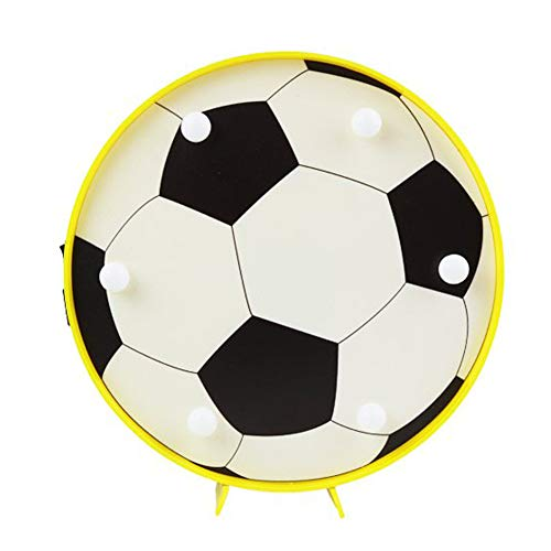 DELICORE Soccer Led Marquee Light Decorative Motif Football Sports Themed Night Lamp Table Wall Light Boys Bedroom Decor Gifts For Kids(Soccer)