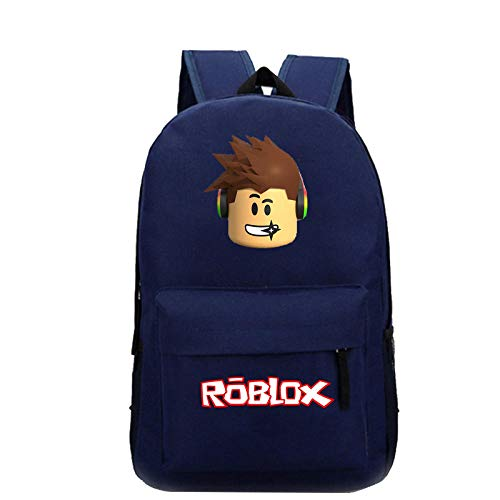Game r-o-b-l-o-x Pattern Backpack Student School Bag Outdoor Travel Bag Sports Bag Mountaineering Bag Computer Bag 1-Navy Blue Pattern 1_High Capacity