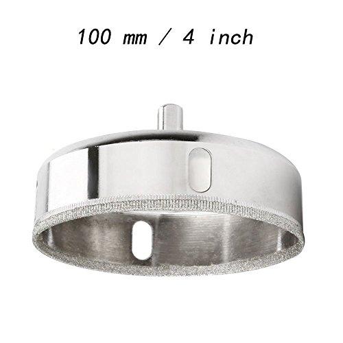 Lochsägen-Bohrkronen von Vzer, diamantbeschichtet, im Set, für Fliesen, Keramik, Porzellan, Glas, Marmor, silber