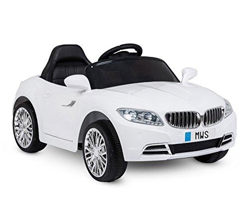 LT861 Coche eléctrico para niños Crazy puertas automáticas y 3 velocidades - Blanco