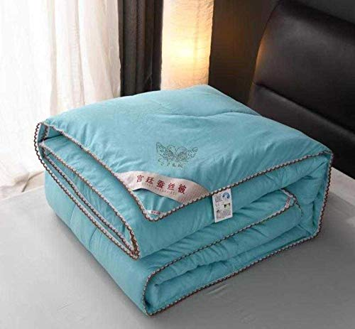 XNSY Single Summer air conditioning thin quilt-180 * 220cmA_Water green