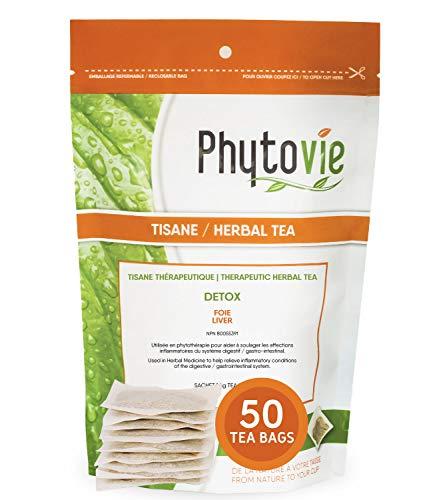 Liver Detox Cleanse Therapeutic Herbal Tea, Pack of 50 Tea Bags