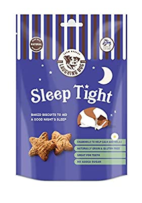 Laughing Dog - Nighttime Sleep Tight Dog Treats - Oven-Baked Natural Dog Biscuits, Wheat and Grain Free - 125g