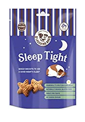 CALMING INGREDIENTS - Our naturally oven-baked bedtime biscuits for dogs are made with soothing ingredients including chamomile to help relax and calm your canine companion, and aid a good night's sleep. GREAT FOR TEETH - Our night time dog treats ha...