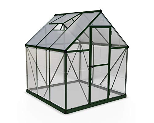 Palram HG5506 Hybrid Hobby Greenhouse, 6' x 6' x 7', Silver