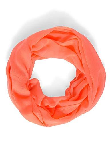 CECIL Damen Loop Mode-Schal, neon Soft orange, A